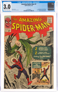 The Amazing Spider-Man #2 (Marvel, 1963) CGC GD/VG 3.0 Off-white to white pages