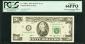 Error Notes:Inking Errors, Missing Non-Magnetic Ink Error Fr. 2080-L $20 1993 Federal...