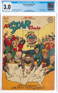 All Star Comics #37 (DC, 1947) CGC GD/VG 3.0 Cream to off-white pages