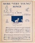 Books:Signed Editions, A. A. Milne; H. Fraser-Simson [music]. More ...