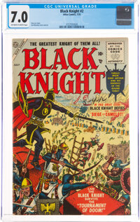 Black Knight #2 (Atlas, 1955) CGC FN/VF 7.0 Off-white to white pages