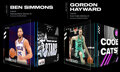 Baseball Collectibles:Others, 2021 NBA Top Shots - Lot of (2) Including Ben Simmons Seeing Stars (Series 2), Common #4189/10000 and Gordon Hayward Cool Cats...