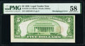 Error Notes:Miscellaneous Errors, Misaligned Back Printing Error Fr. 1525 $5 1928 Legal Tender Note. PMG Choice About Unc 58.. ...