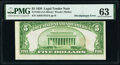 Error Notes:Miscellaneous Errors, Misaligned Back Printing Error Fr. 1525 $5 1928 Legal Tender Note. PMG Choice Uncirculated 63.. ...
