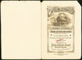 Poor's Railroad Manual/American Bank Note Company Advertisement Card/Specimen Cover Aug. 24, 1905 Not graded.<