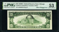 Error Notes:Offsets, Partial Face to Back Offset Error Fr. 2014-G $10 1950D Federal Reserve Note. PMG About Uncirculated 53.. ...