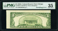 Error Notes:Miscellaneous Errors, Misaligned Back Printing Error Fr. 1962-G $5 1950A Federal...