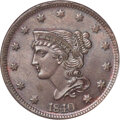 1840 1C Large Date, N-5, R.1, MS65 Brown PCGS. CAC....(PCGS# 395831)