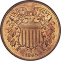 1865 2C Fancy 5, Repunched Date, FS-1301 (formerly FS-002.5), MS66 Red NGC....(PCGS# 38261)