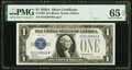 Small Size:Silver Certificates, Fr. 1601 $1 1928A Silver Certificate. PMG Gem Uncirculated 65 EPQ.. ...