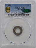 1852 Patterns PCGS MS65 CAC Gold Dollar, Judd-138 Thin, Pollock-165, Low R.7...(PCGS# 11583)