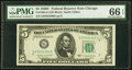 Small Size:Federal Reserve Notes, Fr. 1964-G $5 1950C Federal Reserve Note. PMG Gem Uncirculated 66 EPQ.. ...