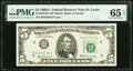 Small Size:Federal Reserve Notes, Fr. 1970-H* $5 1969A Federal Reserve Note. PMG Gem Uncirculated 65 EPQ.. ...