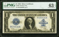 Large Size:Silver Certificates, Fr. 239 $1 1923 Silver Certificate PMG Choice Uncirculated 63 EPQ.. ...