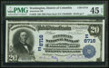 National Bank Notes:District of Columbia, Washington, DC - $20 1902 Plain Back Fr. 650 American National Bank Ch. # (E)6716 PMG Choice Extremely Fine 45 EPQ....