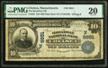 National Bank Notes:Massachusetts, Chelsea, MA - $10 1902 Plain Back Fr. 627 The Broadway National Bank Ch. # (N)9651 PMG Very Fine 20.. ...