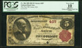 National Bank Notes:Massachusetts, Salem, MA - $5 1882 Brown Back Fr. 466 The First National Bank Ch. # 407 PCGS Apparent Very Good 10.. ...