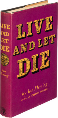 Ian Fleming. Live and Let Die. London: Jonathan Cape, [1954]. First edition, first impression