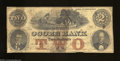 Obsoletes By State:Tennessee, Knoxville, TN- Ocoee Bank $2 Nov. 1, 1859