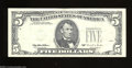 Error Notes:Third Printing on Reverse, Fr. 1985-F $5 1995 Federal Reserve Note. Very Fine. The ...