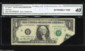 Error Notes:Foldovers, Fr. 1908-A $1 1974 Federal Reserve Note. CGA Extremely Fine ...