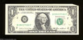 Error Notes:Foldovers, Fr. 1913-B $1 1985 Federal Reserve Note. About Uncirculated.
