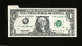 Error Notes:Foldovers, Fr. 1921-F $1 1995 Federal Reserve Note. Choice Crisp ...