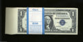 Small Size:Silver Certificates, Fr. 1621 $1 1957B Silver Certificates. 100 Consecutive ... (100 notes)