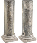 Furniture, A Pair of Continental Marble Pedestals. 46-3/4 x 16-1/8 inches (118.7 x 41.0 cm) (each). Property from the Collection of... (Total: 2 Items)