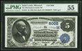 National Bank Notes:Missouri, Saint Louis, MO - $5 1882 Date Back Fr. 534 The Merchants-Laclede National Bank Ch. # (M)5002 PMG About Uncirculated 5...