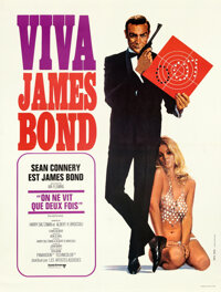 """Viva James Bond: You Only Live Twice (United Artists, R-1970). Very Fine+ on Linen. French Grande (47.75"""" X 63""""..."""