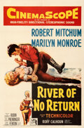 """Movie Posters:Western, River of No Return (20th Century Fox, 1954). Very Fine- on Linen. One Sheet (27"""" X 41"""").. ..."""