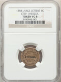 1858 1C Flying Eagle Cent, Large Letters, J Herzer Counterstamp VG8 NGC. The lot will also include a 1847 $10 California...