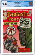 Silver Age (1956-1969):Superhero, Fantastic Four #16 (Marvel, 1963) CGC NM 9.4 Off-white to white pages....