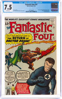 Fantastic Four #10 (Marvel, 1963) CGC VF- 7.5 White pages