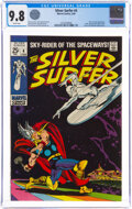 Silver Age (1956-1969):Superhero, The Silver Surfer #4 (Marvel, 1969) CGC NM/MT 9.8 White pages....