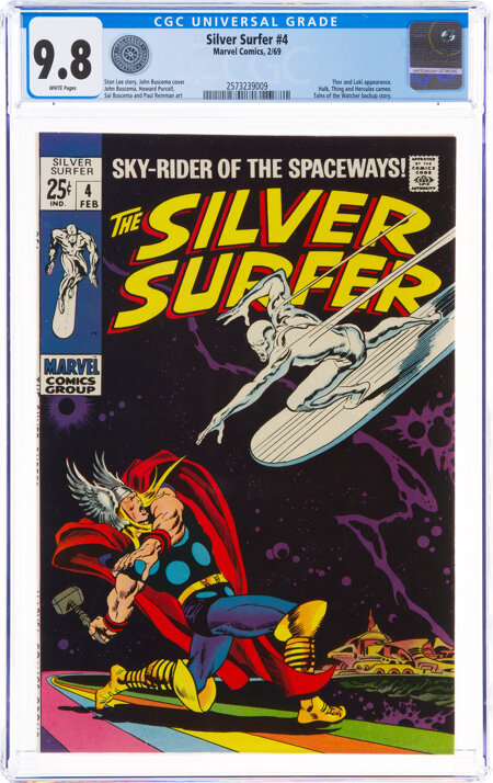 The Silver Surfer #4 (Marvel, 1969) CGC NM/MT 9.8 White pages....