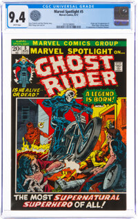 Marvel Spotlight #5 Ghost Rider (Marvel, 1972) CGC NM 9.4 White pages