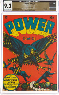 Power Comics #4 The Promise Collection Pedigree (Holyoke Publications, 1945) CGC NM- 9.2 Off-white to white pages