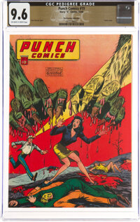 Punch Comics #19 The Promise Collection Pedigree (Chesler, 1946) CGC NM+ 9.6 Off-white to white pages