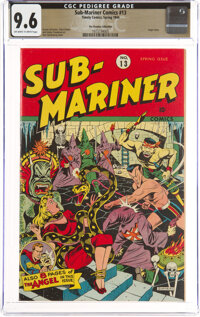 Sub-Mariner Comics #13 The Promise Collection Pedigree (Timely, 1944) CGC NM+ 9.6 Off-white to white pages