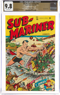 Sub-Mariner Comics #16 The Promise Collection Pedigree (Timely, 1945) CGC NM/MT 9.8 Off-white pages