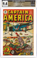 Golden Age (1938-1955):Superhero, Captain America Comics #36 The Promise Collection Pedigree (Timely, 1944) CGC NM 9.4 Cream to off-white pages....