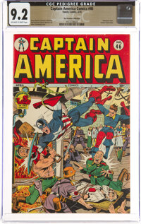 Captain America Comics #46 The Promise Collection Pedigree (Timely, 1945) CGC NM- 9.2 Off-white to white pages