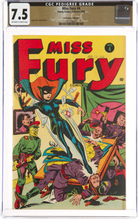 Miss Fury #4 The Promise Collection Pedigree (Timely, 1944) CGC VF- 7.5 Off-white to white pages