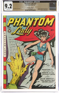 Phantom Lady #13 The Promise Collection Pedigree (Fox Features Syndicate, 1947) CGC NM- 9.2 White pages