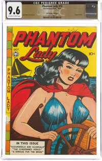 Phantom Lady #14 The Promise Collection Pedigree (Fox Features Syndicate, 1947) CGC NM+ 9.6 Off-white to white pages