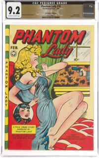 Phantom Lady #16 The Promise Collection Pedigree (Fox Features Syndicate, 1948) CGC NM- 9.2 Off-white to white pages