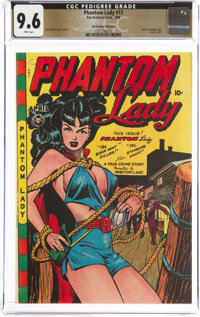 Phantom Lady #17 The Promise Collection Pedigree (Fox Features Syndicate, 1948) CGC NM+ 9.6 Pink pages