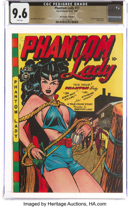 Phantom Lady #17 The Promise Collection Pedigree (Fox Features Syndicate, 1948) CGC NM+ 9.6 Pink pages....